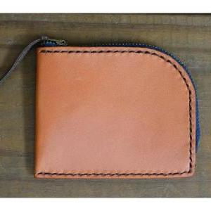 Wallet with zipper slot -- Leather ..