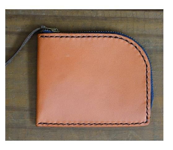 Wallet with zipper slot -- Leather wallet
